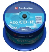 CD-R Verbatim Datalife plus, 700MB, 52x (baleni 50 ks spindl