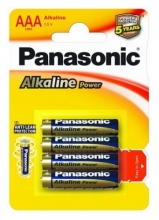 Baterie Panasonic LR03 1,5 V Alkaline Power, AAA, 4 ks