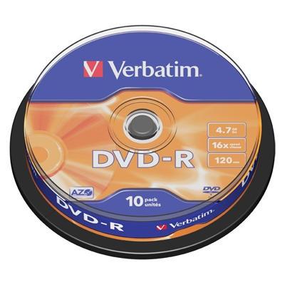 Dvd-R Verbatim 16x, cake 10 ks
