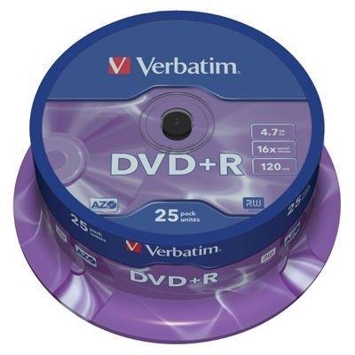 Dvd R Verbatim 4,7 GB, 16x, cake 25 ks