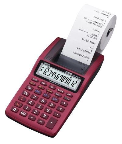 Kalkulačka Casio HR-8TEC s tiskem, červená