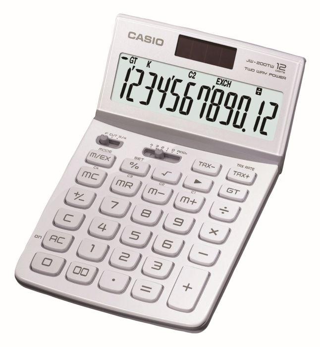 Stolní kalkulačka Casio JW 200TW, bílá