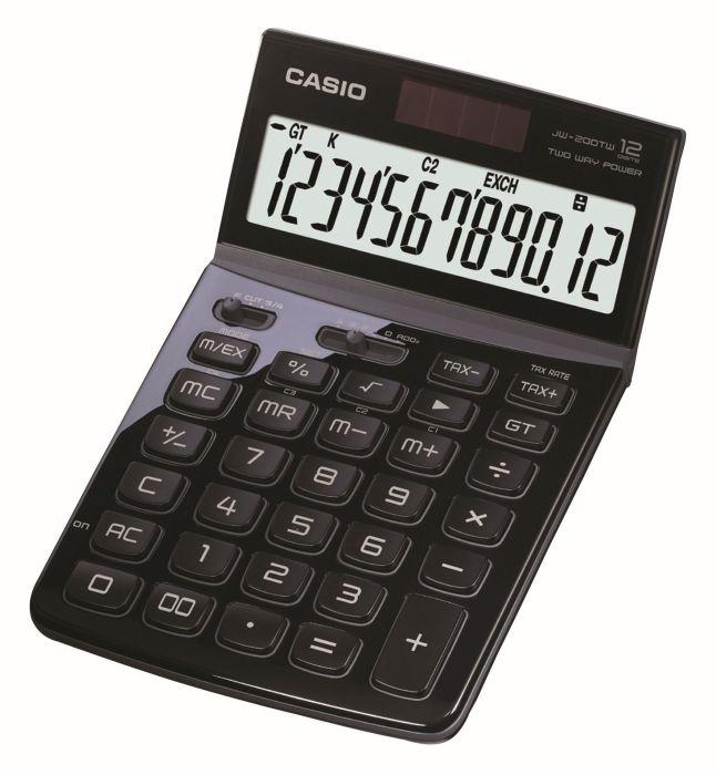 Stolní kalkulačka Casio JW 200TW, černá