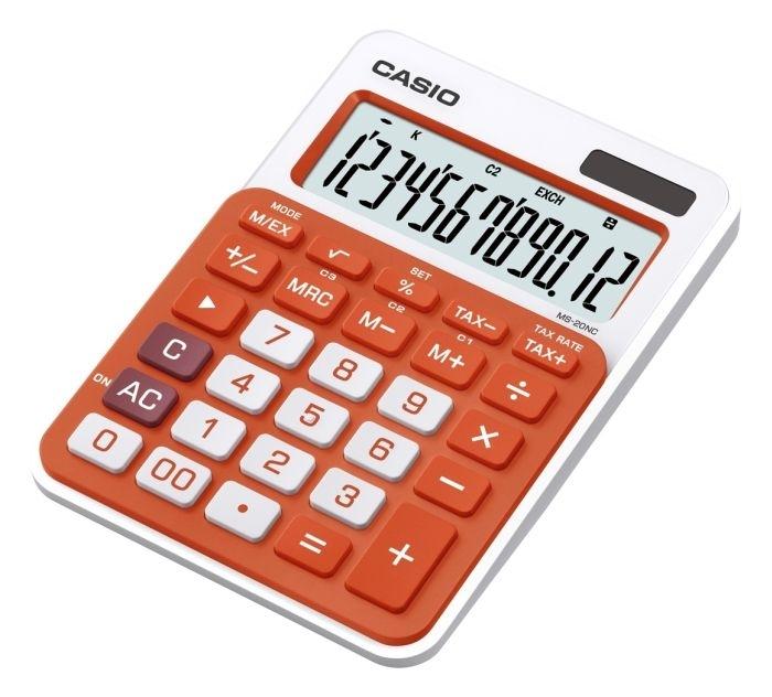 Stolní kalkulačka Casio MS 20 NC, oranžová