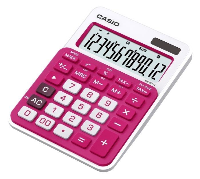 Kalkulačka stolní Casio MS 20 NC, červená