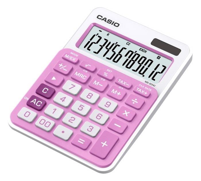 Kalkulačka stolní Casio MS 20 NC, růžová