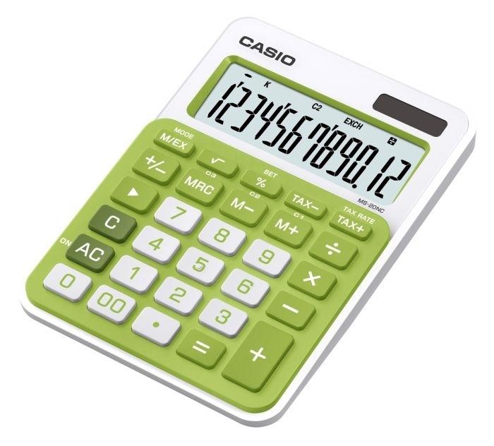 Kalkulačka stolní Casio MS 20 NC, zelená