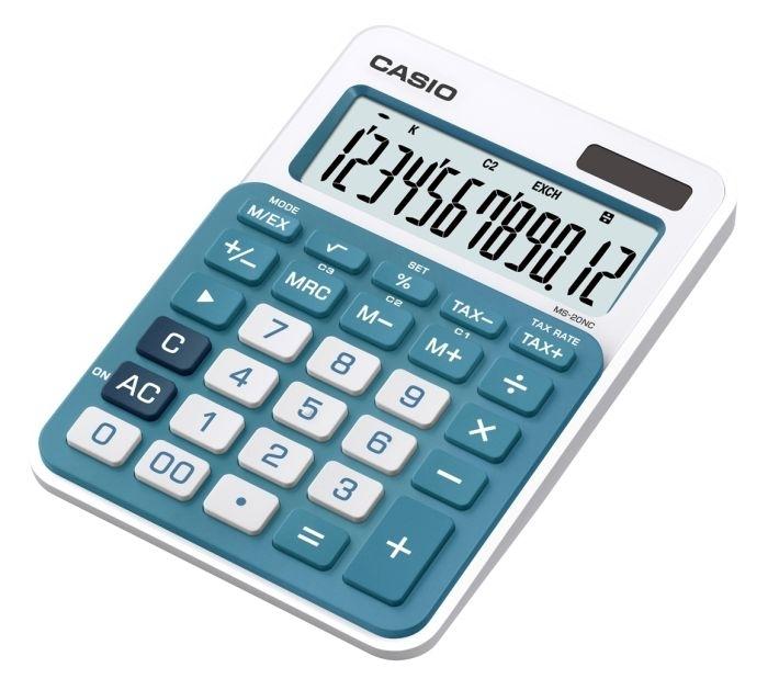 Kalkulačka stolní Casio MS 20 NC, modrá