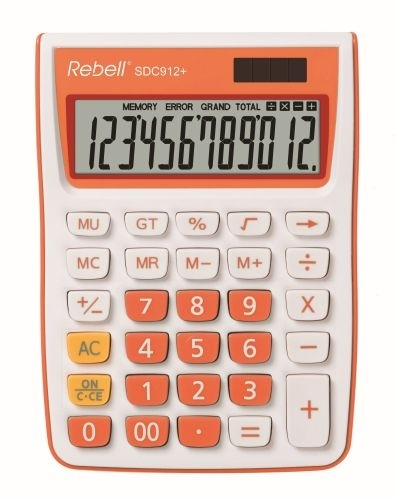 Stolní kalkulačka Rebell SDC912, oranžová