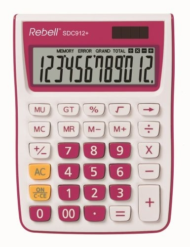 Stolní kalkulačka Rebell SDC912+, růžová