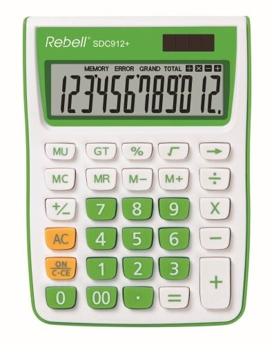 Stolní kalkulačka Rebell SDC912+, zelená