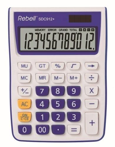 Stolní kalkulačka Rebell SDC912+, modrá
