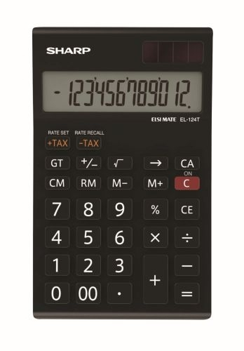 Stolní kalkulačka Sharp EL-124TWH