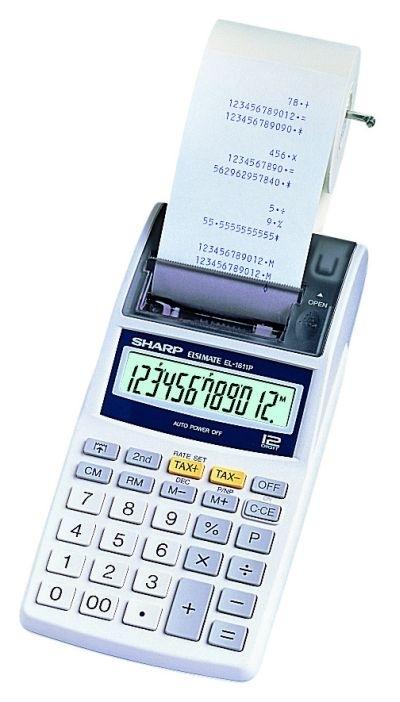 Kalkulačka Sharp EL-1611P adaptér EA-28A