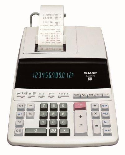 Kalkulačka s tiskem Sharp EL-2607PG-GY