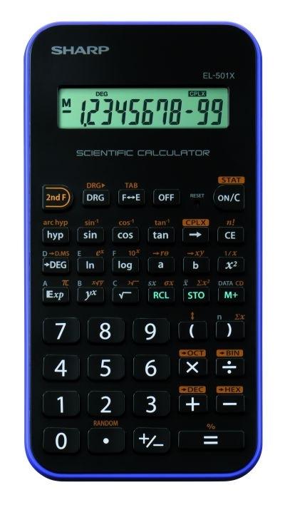Kalkulačka Sharp EL-501XVL, černá/fialová