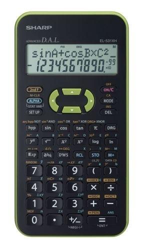 Vědecká kalkulačka Sharp EL-531XHGR, zelená