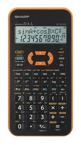Vědecká kalkulačka Sharp EL-531XHOR, oranžová