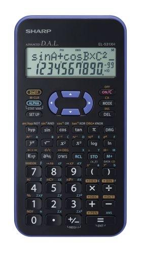 Vědecká kalkulačka Sharp EL-531XHVL, fialová