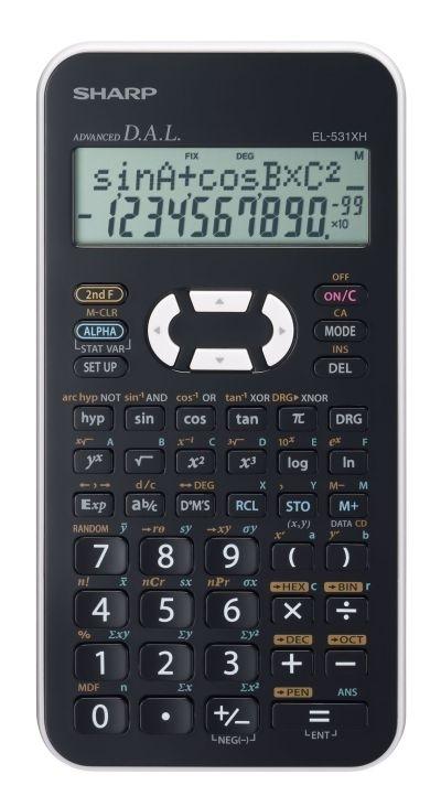 Kalkulačka Sharp EL-531XHWH, bílá