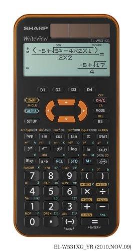 Vědecká kalkulačka Sharp EL-W531XG, oranžová