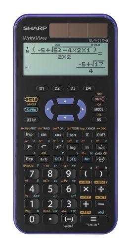 Vědecká kalkulačka Sharp EL-W531XG, fialová