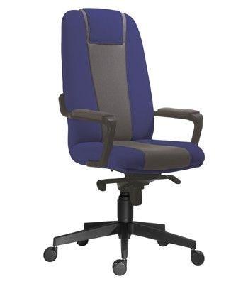 Kancelářské křeslo 4000, D5/D4 (šedá/ modrá)