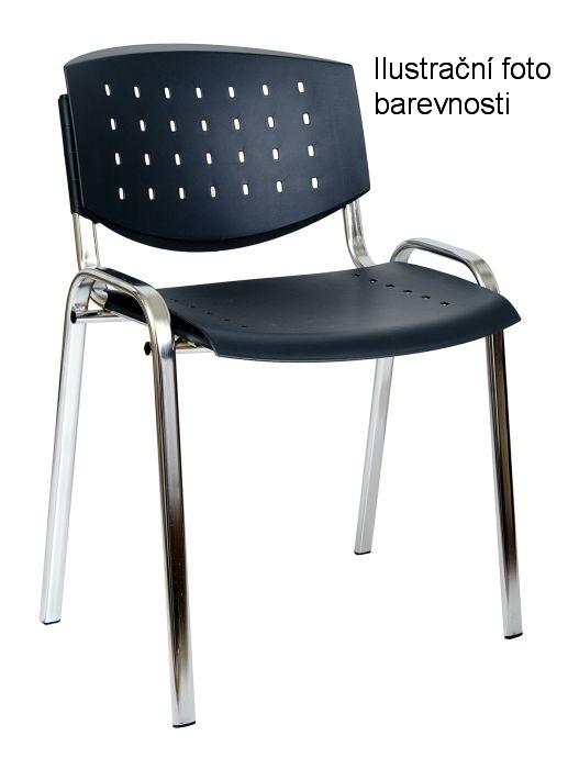 Židle konferenční Taurus Layer, plastový sedák, tm. šedá