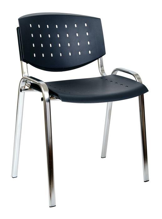 Židle konferenční Taurus Layer, plastový sedák, černá