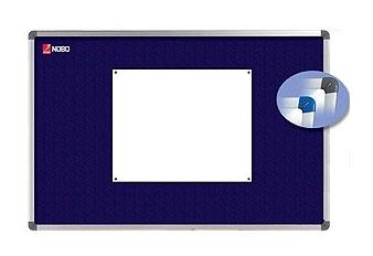 Nástěnka textilní NOBO ELIPSE 60x45 cm, modrá
