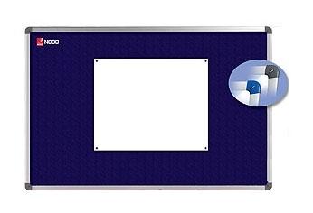 Nástěnka textilní NOBO ELIPSE 90x60 cm, modrá