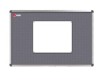 Nástěnka textilní NOBO ELIPSE 90x60 cm, šedá