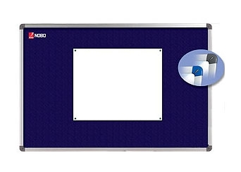 Nástěnka textilní NOBO ELIPSE 120x90 cm, modrá