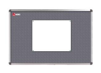 Textilní nástěnka NOBO ELIPSE 120 × 90 cm, šedá