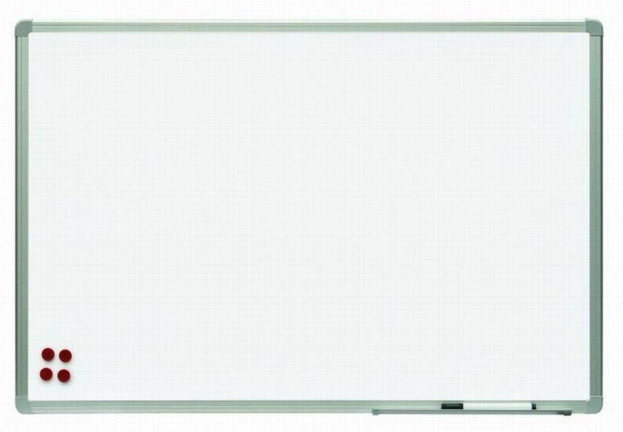Nástěnná magnetická tabule 100 × 200 cm, bílá