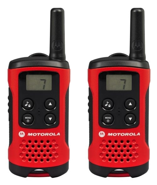 Vysílačka Motorola T40, 2 ks, černo- červená