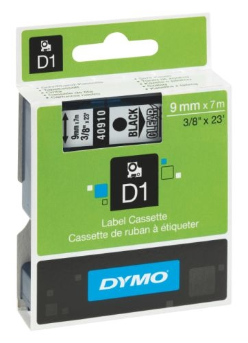 Páska Dymo Pocket 9 mm černá/průhledná