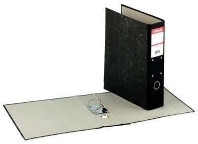 Pořadač A4 závěsný mramor, hřbet 70 mm, černý