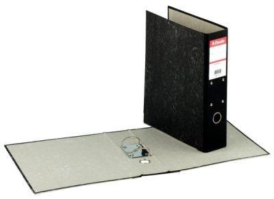Závěsný pořadač A4 mramor, hřbet 70 mm, černý