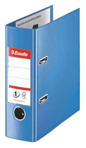 Celoplastový pákový pořadač Esselte No 1 Power A5, 75 mm, modrý