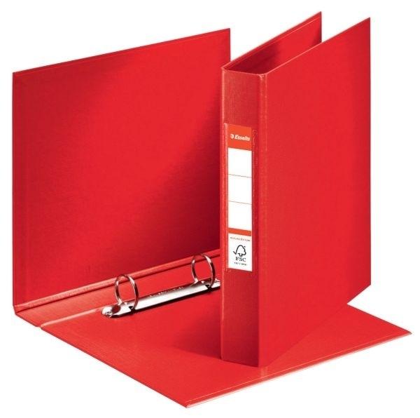 Pořadač A5 2 kroužkový, PVC, hřbet 42 mm, červený