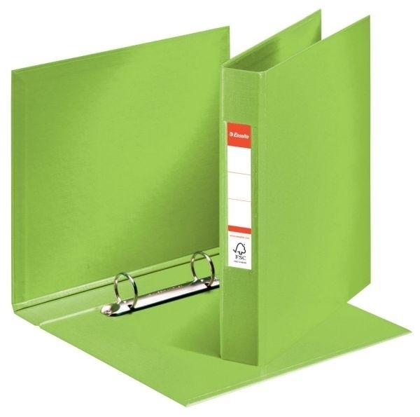 Pořadač A5 2 kroužkový, PVC, hřbet 42 mm, zelený