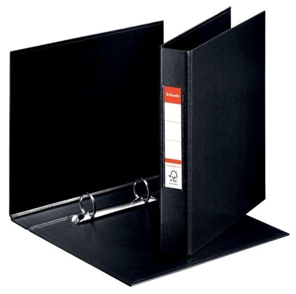 Pořadač A5 2 kroužkový, PVC, hřbet 42 mm, černý