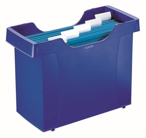 Zásobník na závěsné složky Leitz Plus, modrý