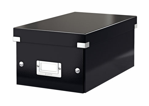 Archivační krabice na DVD Leitz Click-N-Store, černá