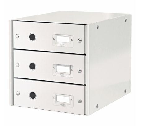 Archivační box zásuvkový Leitz Click-N-Store, 3 zásuvky, bílý