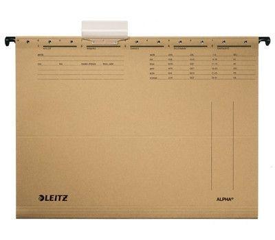 Závěsné desky Leitz ALPHA typu V, hnědé