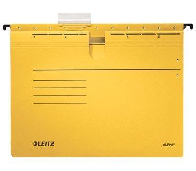 Závěsné desky Leitz ALPHA s rychlovazačem, žluté