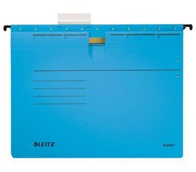 Závěsné desky Leitz ALPHA s rychlovazačem, modré