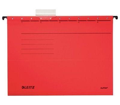 Závěsné desky Leitz ALPHA typu V, červené
